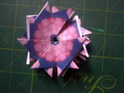 How to fold an origami shape. Original Tea Bag Folded Star - Step 5