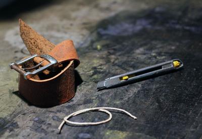 How to make a braided leather bracelet. Braided Leather Bracelet Diy - Step 1