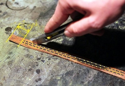 How to make a braided leather bracelet. Braided Leather Bracelet Diy - Step 3
