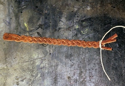 How to make a braided leather bracelet. Braided Leather Bracelet Diy - Step 6