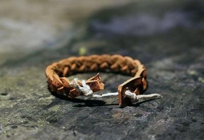 How to make a braided leather bracelet. Braided Leather Bracelet Diy - Step 9