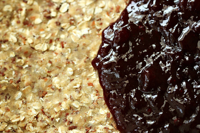 How to bake a granola bar. Oatmeal Coconut Raspberry Bars - Step 4
