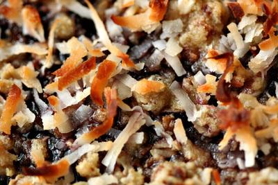 How to bake a granola bar. Oatmeal Coconut Raspberry Bars - Step 5