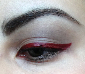 How to create a red eye makeup look. Romantic Red Makeup Look - Step 1