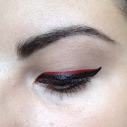 How to create a red eye makeup look. Romantic Red Makeup Look - Step 2