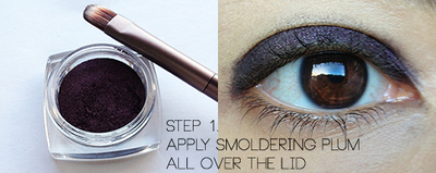 How to create a red eye makeup look. Smoldering Cranberry Makeup Look - Step 1