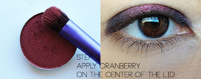 How to create a red eye makeup look. Smoldering Cranberry Makeup Look - Step 2