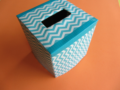 How to make a tissues holder. Tissue Box Cover - Step 11