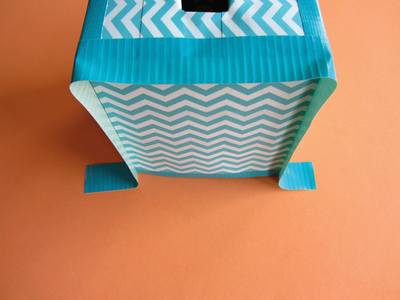 How to make a tissues holder. Tissue Box Cover - Step 13