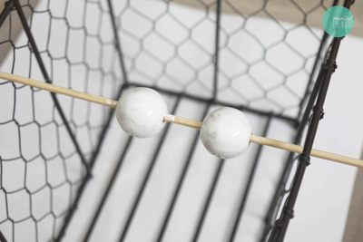 How to make a pair of chandelier earrings. Diy Gilded Ball Drop Earrings - Step 1