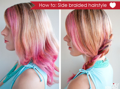 How to style a side braid. Side Braid Hairstyle Tutorial - Step 1
