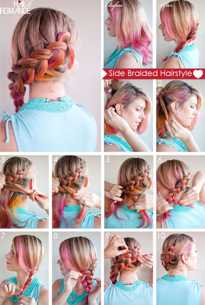 How to style a side braid. Side Braid Hairstyle Tutorial - Step 2