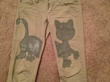 How to make trousers. Kitty Pants! - Step 4