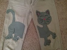 How to make trousers. Kitty Pants! - Step 5