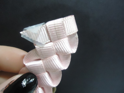 How to make a braided ribbon bracelet. Ribbon Bracelet - Step 10