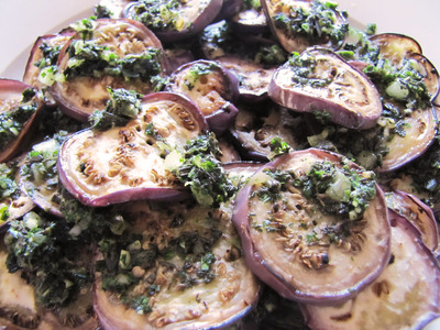 How to cook an eggplant. Grilled Aubergine With Herb Drizzle - Step 4