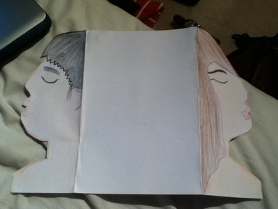 How to make a pop up card. Kissing Card - Step 2
