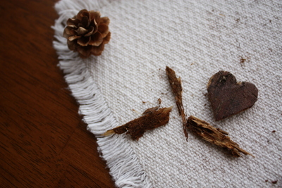 How to make a wooden brooch. Bark Heart Brooch - Step 3