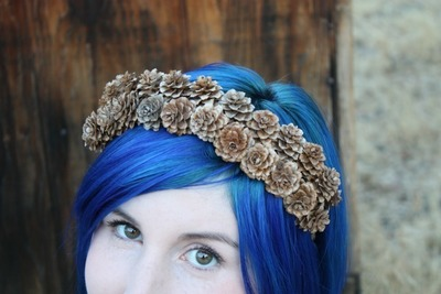 How to make a tiara / crown. Pine Cone Crown - Step 3
