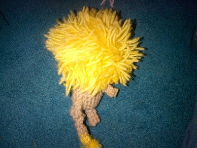How to make a lion plushie. Crocheted Lion - Step 7