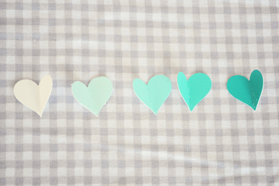 How to make a recycled card. Paint Sample Swatch Card - Step 4