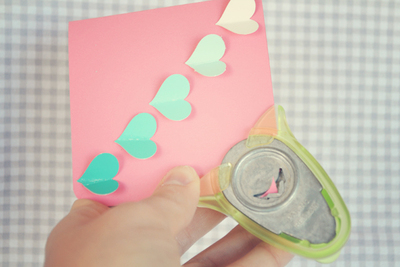 How to make a recycled card. Paint Sample Swatch Card - Step 5
