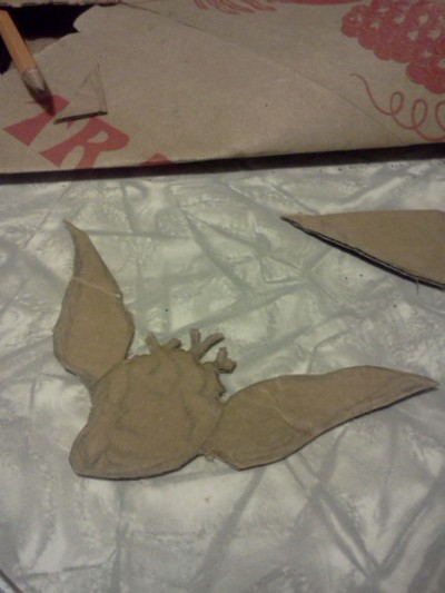 How to make a wing pendant. Papier Mache Pendant ~Freedom To Love - Step 2