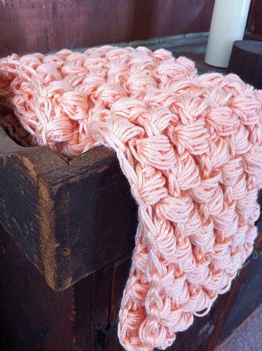 How to knit a puff stitch scarf. Yummy Puff Stitch Scarf - Step 4