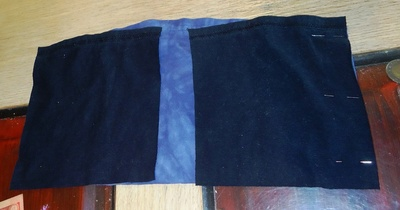 How to recycle a t-shirt skirt. 2 T Shirt Skirt, Yoga Style Band - Step 3
