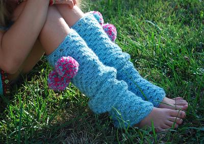 How to make legwarmers. Crochet Granny Stripe Legwarmers - Step 2