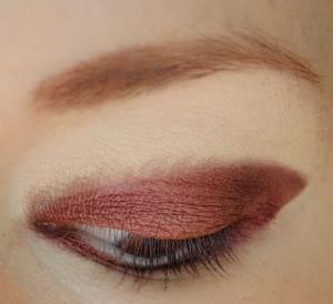 How to create a smokey eye. Burgundy Burlesque Eyeshadow - Step 1