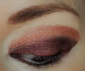 How to create a smokey eye. Burgundy Burlesque Eyeshadow - Step 2