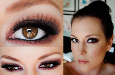 How to create a smokey eye. Burgundy Burlesque Eyeshadow - Step 3