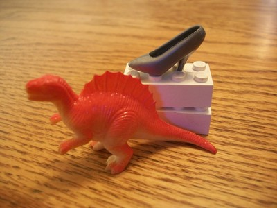 How to make a toy dinosaur necklace. Dinosaur Jewelry  - Step 1