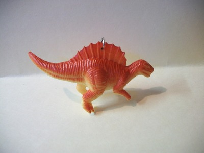 How to make a toy dinosaur necklace. Dinosaur Jewelry  - Step 4