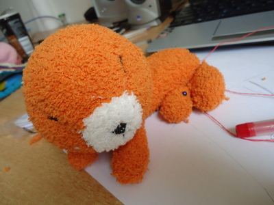 How to make a fox plushie. Fox Sock Plushie - Step 5