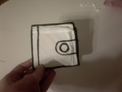 How to make a paper wallet. Faux Jump From Paper Wallet - Step 7