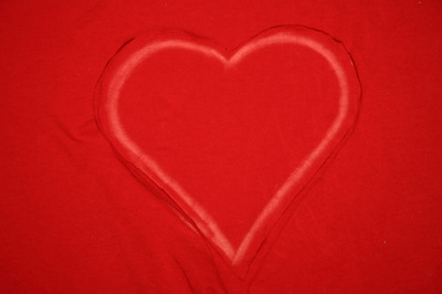 How to cut a heart cut-out top. Ripped Heart Tee - Step 1