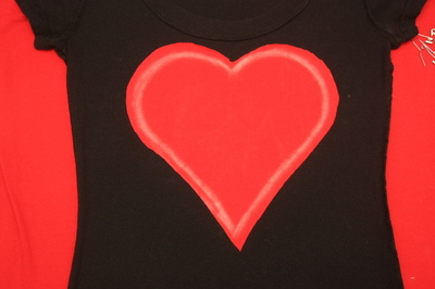 How to cut a heart cut-out top. Ripped Heart Tee - Step 2