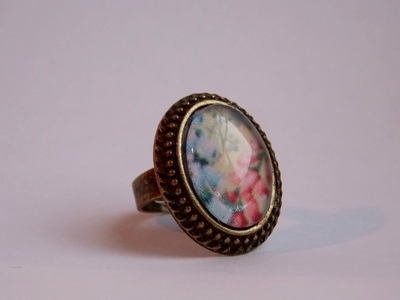 How to make a cabochon ring. Vintage Ring - Step 3