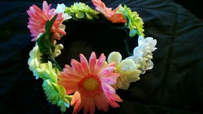 How to make a flower crown. Forever Flower Headband  - Step 4
