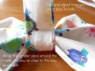 How to make a hair bow. Fabric Hair Bow Tutorial - Step 5