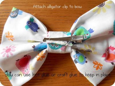 How to make a hair bow. Fabric Hair Bow Tutorial - Step 6