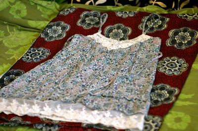 How to alter a revamped dress. New Dress With Help Of Old Dress - Step 2