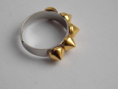 How to make a ring. Spike Ring - Step 3