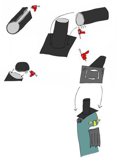 How to make a character plushie. Sock Puppet Abraham Lincoln - Step 5