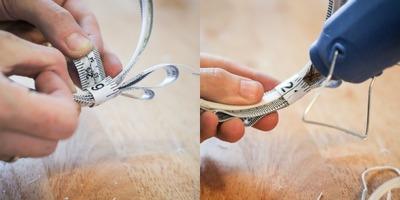 How to recycle a tape measure headband. Diy: Tape Measure Headband  - Step 6