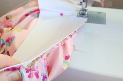 How to sew a gathered skirt. Subtle High Low Skirt - Step 4