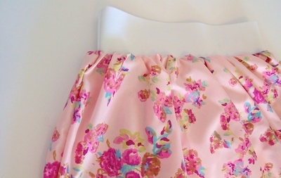 How to sew a gathered skirt. Subtle High Low Skirt - Step 5