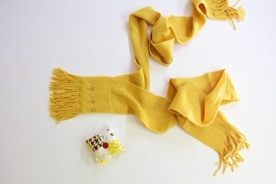 How to make a fabric scarf. Wrapped In Bows Scarf - Step 1